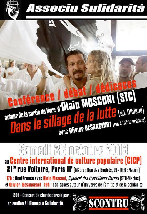Rencontre avec Alain Mosconi (Syndicat des travailleurs corses) autour de la sortie de son livre Dans le sillage de la lutte