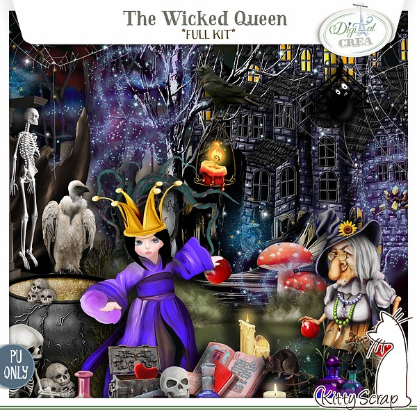kit the wicked queen de kittyscrap