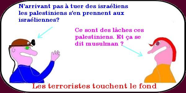 les terroristes touchent le fond