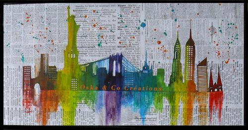 Panorama de New York aux couleurs arc-en-ciel