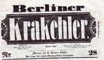 Krakehler_titel der Zeitschrift