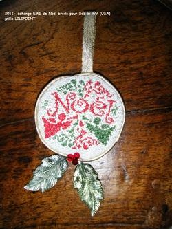 ornement de Noël 2011 pour Deb in WV