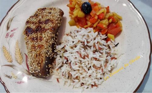 Steaks de thon aux graines de sésame
