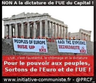 Après les accords de Bruxelles : Plus que jamais, sortir de l'Euro et de l'Union Européenne ! (PRCF-13/07/2015)