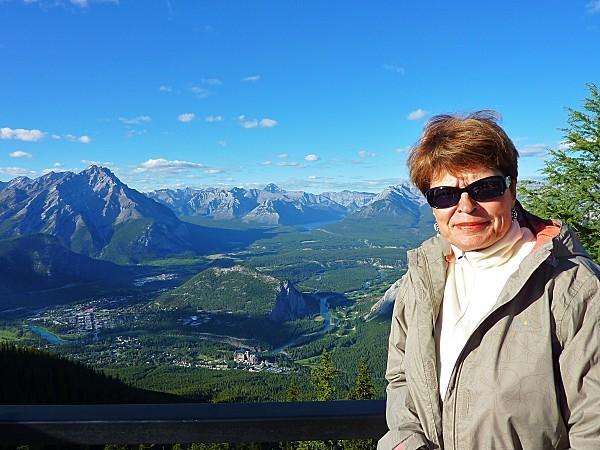Jour 16 Banff vue du Mont Sulphur Martine