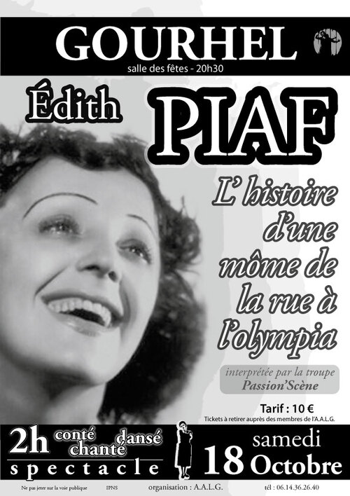 spectacle sur Piaf