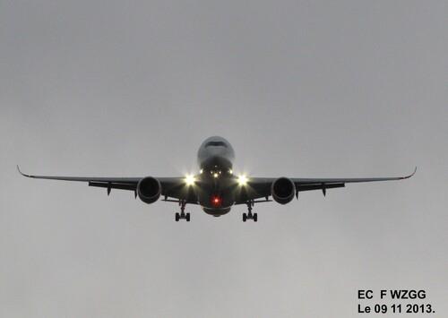 Deuxième Airbus A 350 F WZGG Le 20 11 et Le 26 11 2013,à Blagnac (31).