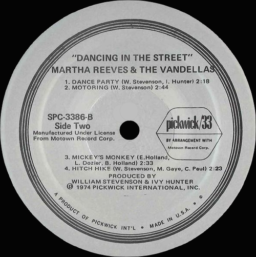 "Martha Reeves & The Vandellas : Album "" Dancing In The Street ! "" Pickwick Records SPC-3386 [ US ]"