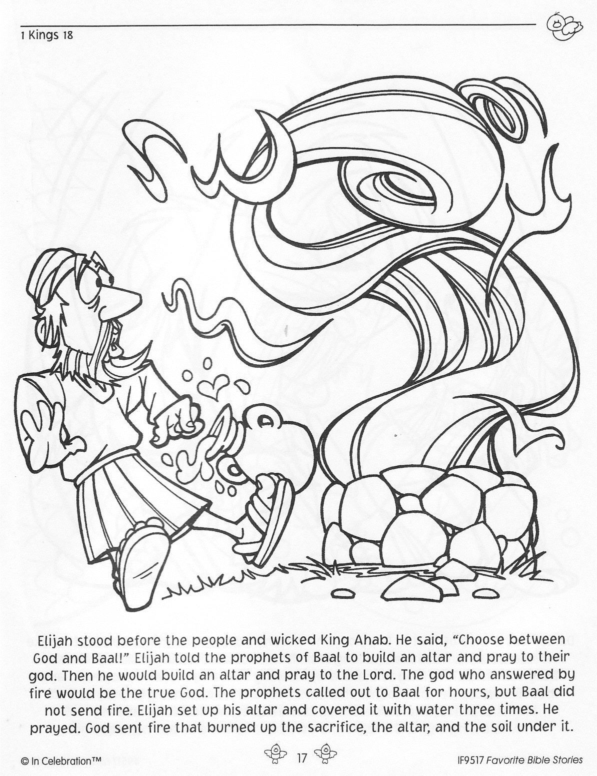 naaman and elisha coloring pages - photo #30
