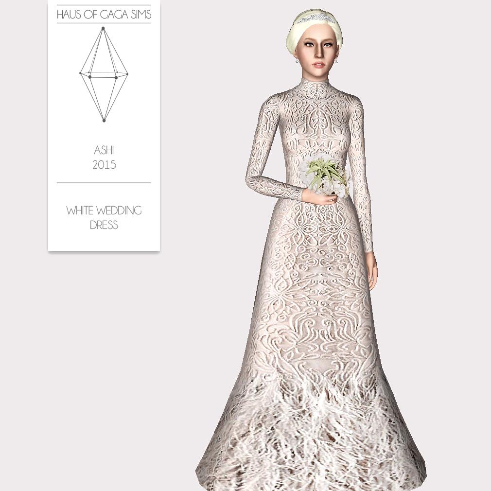 ASHI 2015 WHITE WEDDING DRESS