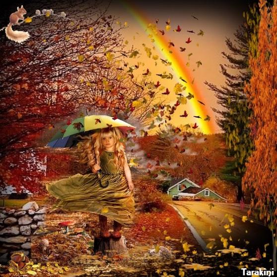pluie de feuilles ...