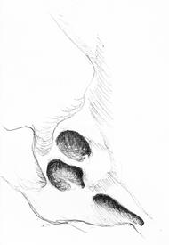 roches érodées, dessin, croquis, falaises, art, organique