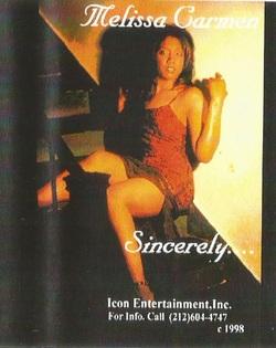 MELISSA CARMEN - SINCERELY (EP 1998)