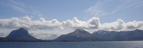 nuages dans le ciel norvégien