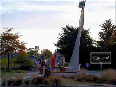 Rond-point  de la Croix Morzel Cordemais Loire Atlantique Pays de la Loire