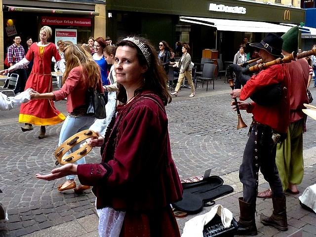 Annimation médiévale de rue à Metz 10 Marc de Metz 16 07