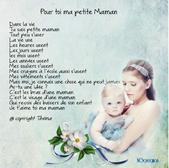 Pour Toi Ma Petite Maman Poème Théma Ngcréation