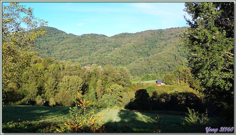 Après la pluie, le beau temps ! Ce matin 27/09/20, le vallon du Ruisseau des Goutes sous le soleil vu de Lartigau - Milhas - 31