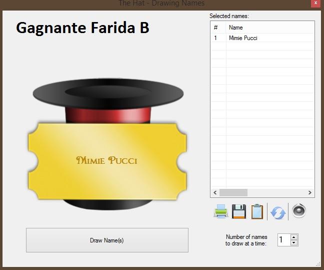 Farida B test et concours (résultat)
