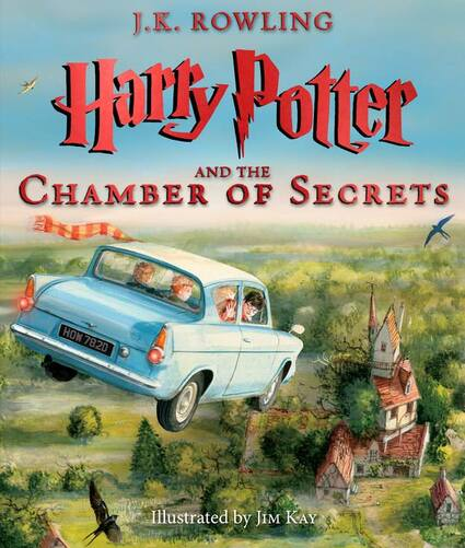 """Découvrez la couverture du tome illustré """"Harry Potter et la chambre des secrets"""""""