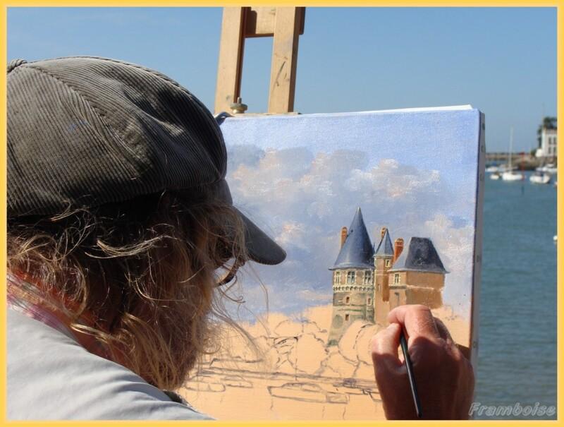 Pornic, Jean Claude DESCHAMPS, le peintre du Château