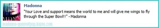message madonna