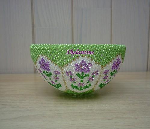 coupelle vert clair fleurs 1