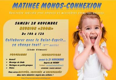 Rappel Réunion Zoom Monos-Connexion - 28 Novembre 2020