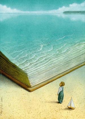 Devant la mer ...