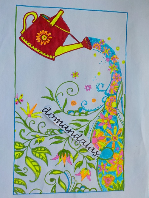 DOMANDALAS mes coloriages album  jardin secret de Johanna Basford