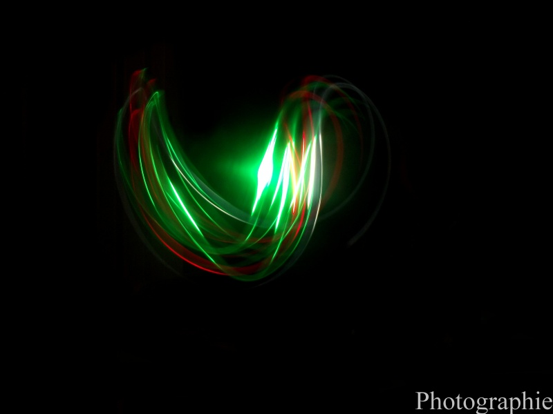 Rouge & Vert (Essai Light Painting)