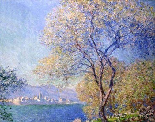 Antibes vue de Salis, par Claude Monet