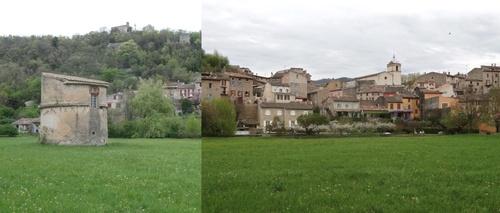 Le village de Bras et son pigeonnier