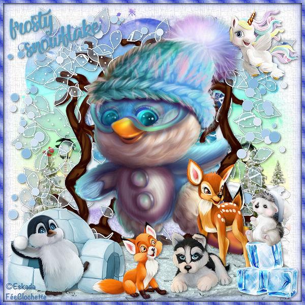 Frosty snowflakes