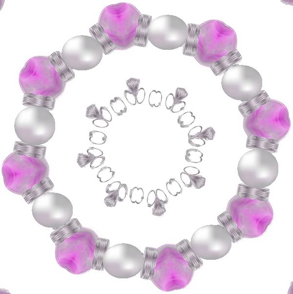 cadres ronds perlés
