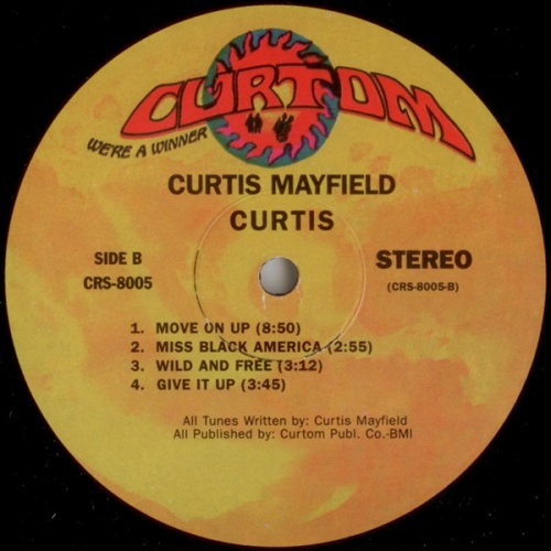 "1970 : Album "" Curtis "" Curtom Records CRS 8005 [ US ]"