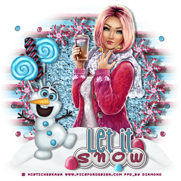 "Tutoriel ""The New Snow Queen"" de Jewel chez Delire2scrap"