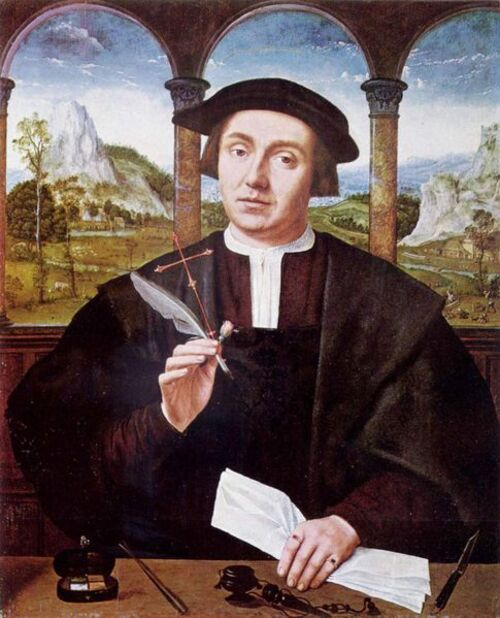 Le notaire, par Quentin Metsys (1456/1466-1530)