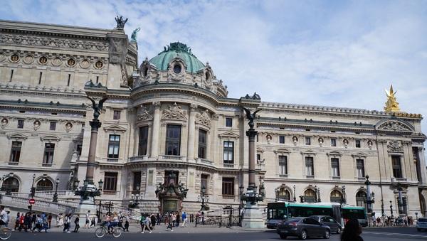 Le Palais Garnier, façade ouest