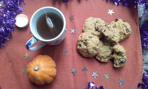 Calendrier de l'avent #3 Cookies Moelleux Courge,chocolat et cranberries {Vegan}