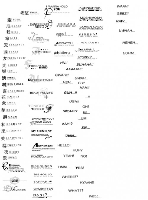 Brush écritures pour icônes
