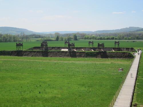 Le MuséoParc d'Alésia (à 1 km du village d'Alise-Sainte-Reine en Côte-d'Or)