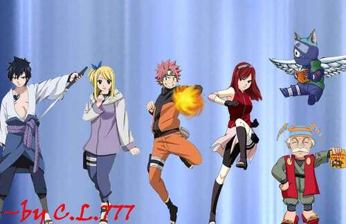 Fairy Tail en Naruto