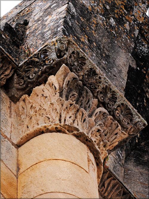 Entrée de l'Abbaye de la Sauve Majeure (Gironde)