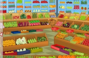 Vegetable shop - Hidden objects