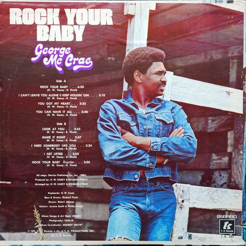 "George McCrae : Album "" Rock Your Baby "" T.K. Records 501 [ US ]"