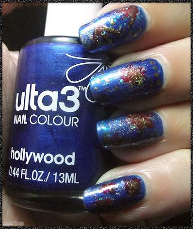 Nail art abstrait et coloré