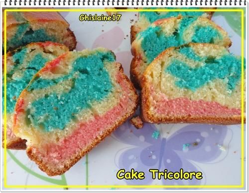 Cake (au yaourt) Tricolore