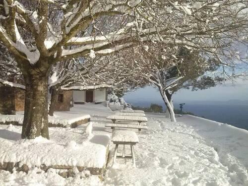 il tombe aussi de la neige à Majorque