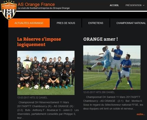 L'AS Orange revient sur les matches du week-end.